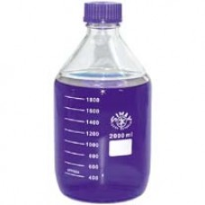 Lab bottle 5000ml glass Blue screw cap
