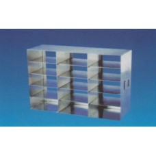 Freezer rack universal Horizontal type for 15 5cm freeze boxes,5 layers;S.S.
