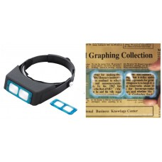 Headband Magnifier 4 lenses:x1.5&3&8.5&10,size 235x195x50mm,w/o light source,optic lense