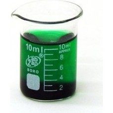 Beaker 10ml Borosilicate low form,spout & printed graduation