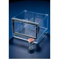 Polystyrene desiccator cabinet w/o vacuum,Int 210x180x130mm;Ext 225x200x168mm;door 188x110