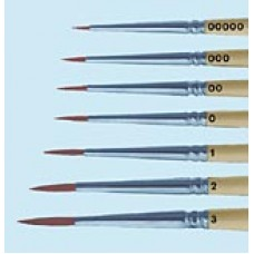 Sable Brushes, Width at Ferrule 1.3mm, Length at ferrule 8.0mm, #0