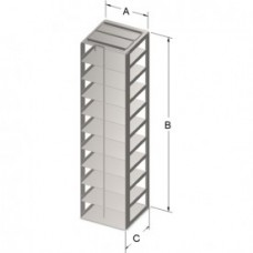 Chest freezer rack 140x565x141mm for (standing one column)10 freeze boxes height 5cm