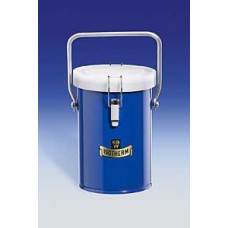 Dewar 1 liter type 26-B blue cover,100xL150mm,insulated clipped lid and carrying handle