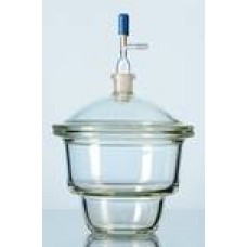 Glass desiccator with vacuum faucet and porcelain plate,diameter 240mm