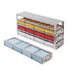 Freezer rack drawer type for 12 5cm freeze boxes,4 drawers;S.S.