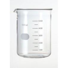 Beaker 500ml Borosilicate high form,spout & printed graduation