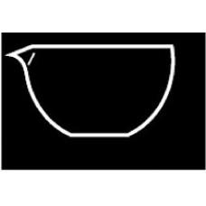 Evaporating dish 45ml 60x30mm dia.spout without print,Borosilicate