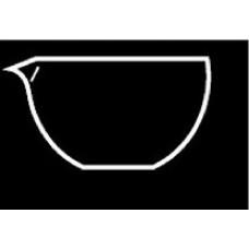 Evaporating dish 150x75mm dia.spout without print,Borosilicate