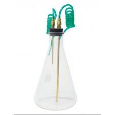 CO2 Bubbler Kit,1000mL erlenmeyer #9 Rubber Stopper